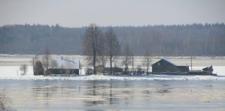 Наводнение в Даугавпилсском крае. 2017 год. Фото: Инесе Минова