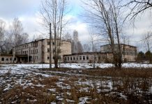 Территория бывшего Межциемского ремесленного училища. 26 февраля 2021 года. Фото: Елена Иванцова