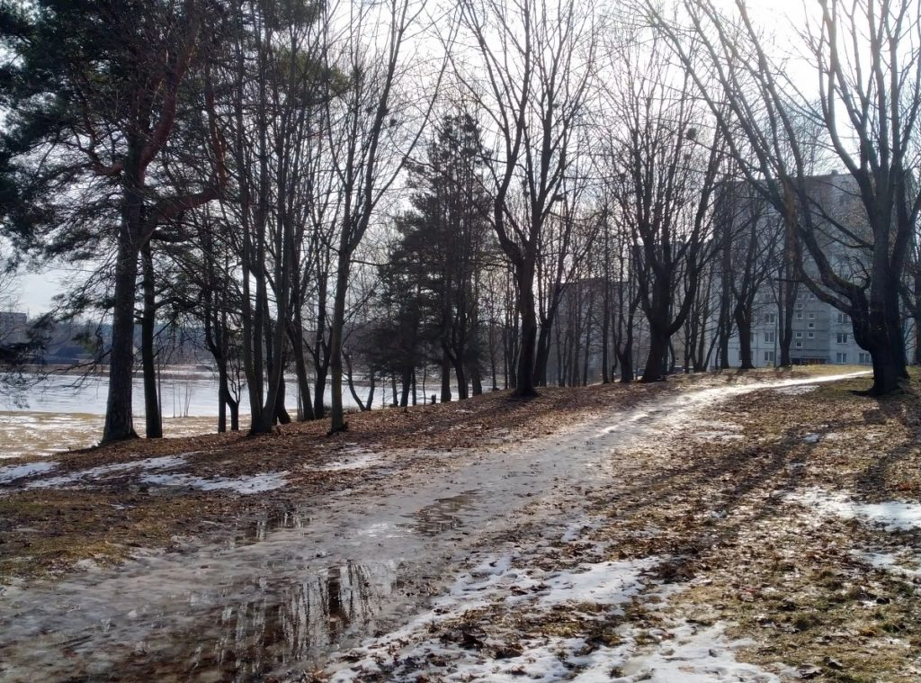 Парк Айзпилсетас в Даугавпилсе. 14 марта 2021 года. Фото: Елена Иванцова