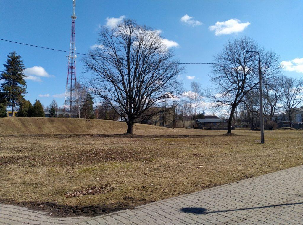 Концертный зал планируют построить на месте бывших каруселей в Центральном парке. 29 марта 2021 года. Фото Елены Иванцовой