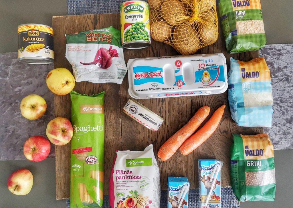 школьный паек из Улброкской средней школы и выбрали из него следующие продукты