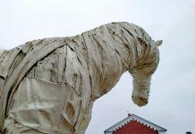 """Призрак крепости """"Белая лошадь"""". 4 апреля 2021 года. Фото Елены Иванцовой"""