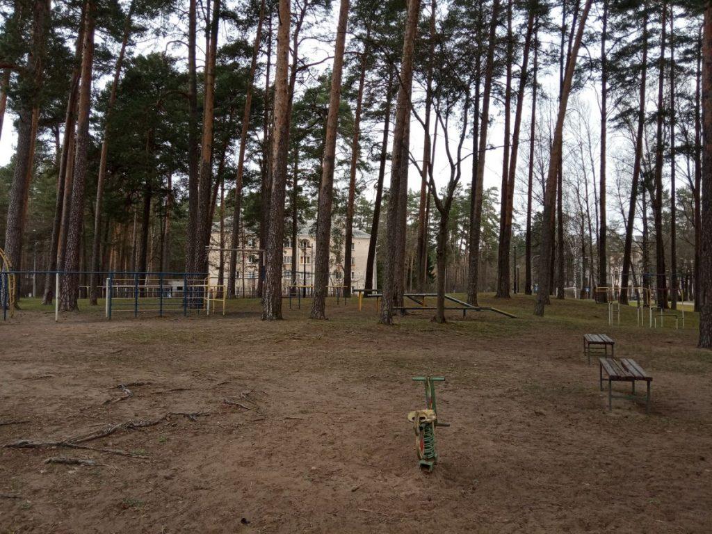 Детская площадка в Даугавпилсской Стропской основной школе–центре развития. Фото со страницы на фейсбуке