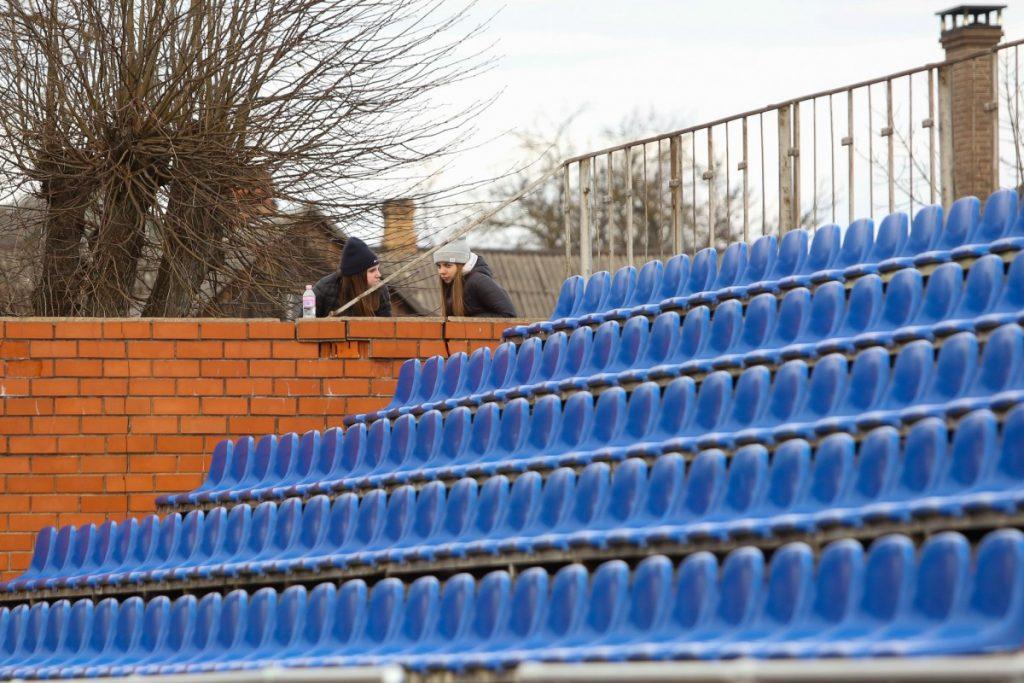 «Даугавпилс» – «Метта». Чемпионат Латвии-2021. Высшая лига, 3 тур. Даугавпилс, 3 апреля 2021 года. Фото: Сергей Кузнецов