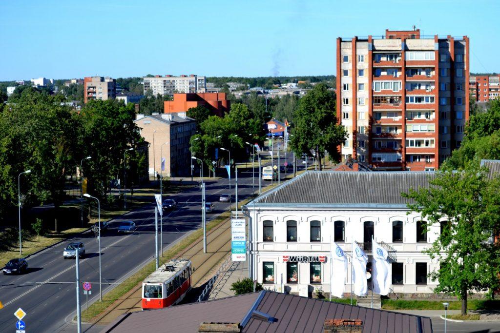 Вид с лютеранской кирхи в Даугавпилсе. Июнь 2019 года. Фото: Елена Иванцова