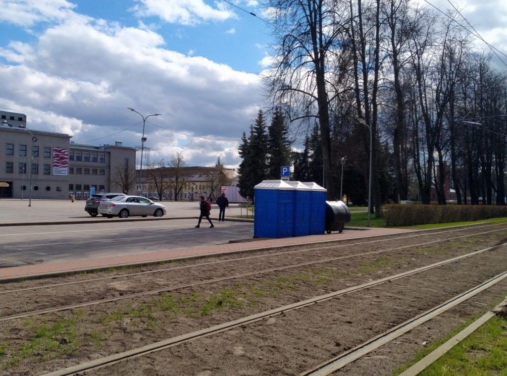 Туалеты в Даугавпилсе. Фото: Елена Иванцова