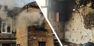 Пожар в Риге 15 апреля 2021 года (ул. Эзера, 5a). Фото: Настя Фёдорова