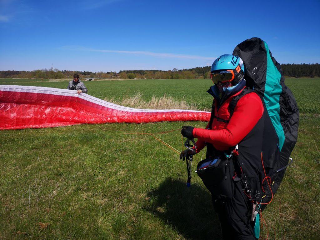 Парапланерный онлайн чемпионат XC-Contest 2021. Латвия, 9 мая 2021 года. Фото: flight.lv