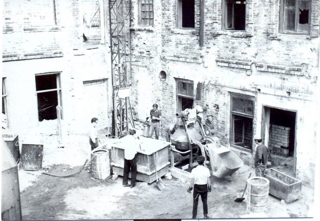 """Строительство """"Дома пионеров"""" в Даугавпилсе. 1975 года. Фото из архива BJC """"Jaunība"""""""