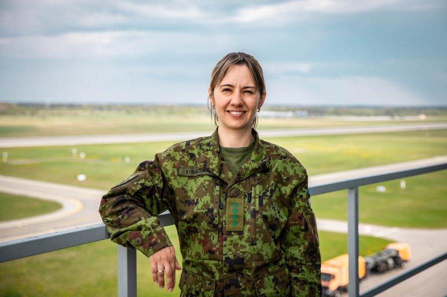Старший синоптик Военно-воздушных сил Эстонии Оксана Вингисаар. Фото: Новая газета Балтия