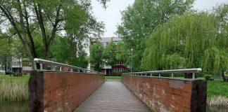 Мост в Сквере около Олимпийского, май 2021 года. Фото: Елена Чурсина