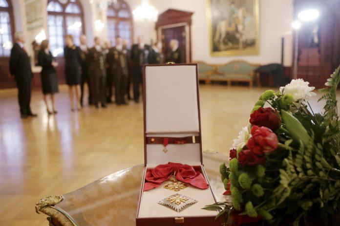 Высшие награды Латвии. Фото: president.lv