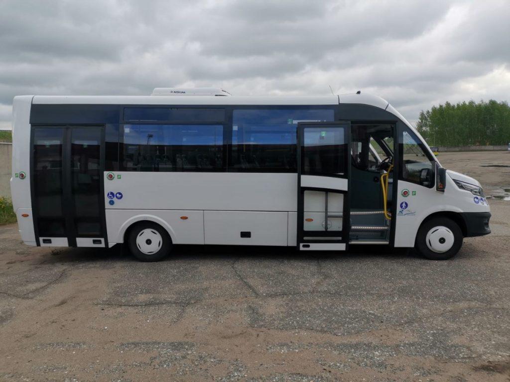 Новые микроавтобусы Iveco. Фото: satiksme.daugavpils.lv