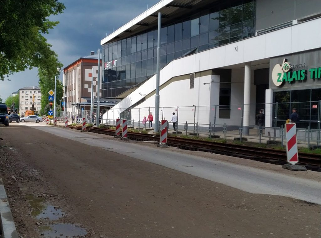 Отрезок улицы Циетокшня от ул. Кандавас до ул. Спорта открыт только для общественного транспорта. Фото: Елена Иванцова