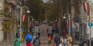 Улица Ригас в Даугавпилсе. 4 мая 2021 года. Фото: Евгений Ратков