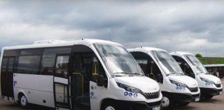 Новые микроавтобусы Iveco в Даугавпилсе. Скриншот с видео daugavpils.lv