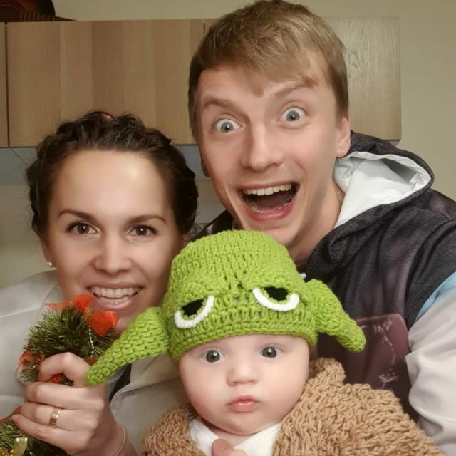Лидия Бреска и Андрей Заиченко с сыном Лео. Фото из семейного архива