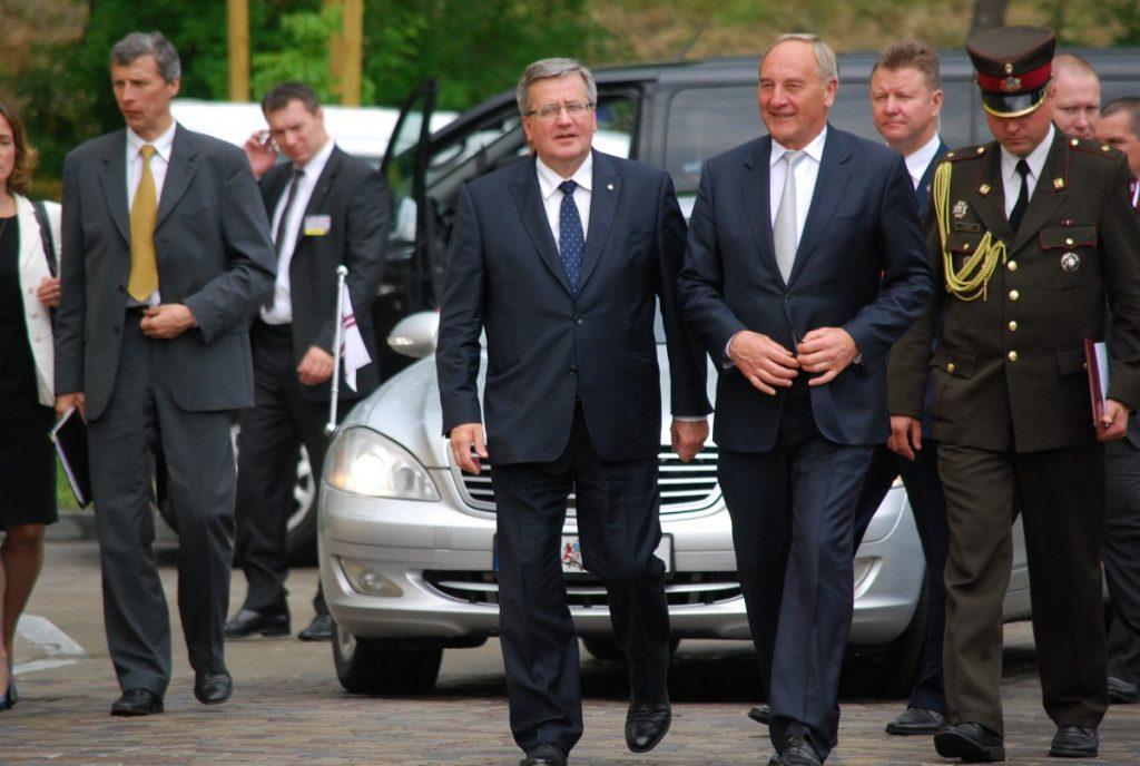 Президенты в Даугавпилсской крепости. Фото Елены Иванцовой