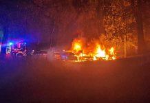 Сгоревшие машины в Даугавпилсе. 13 июня 2021 года. Фото: Светлана Мархель