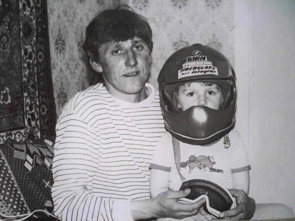 Маленькая Татьяна Кожемякина  с папой