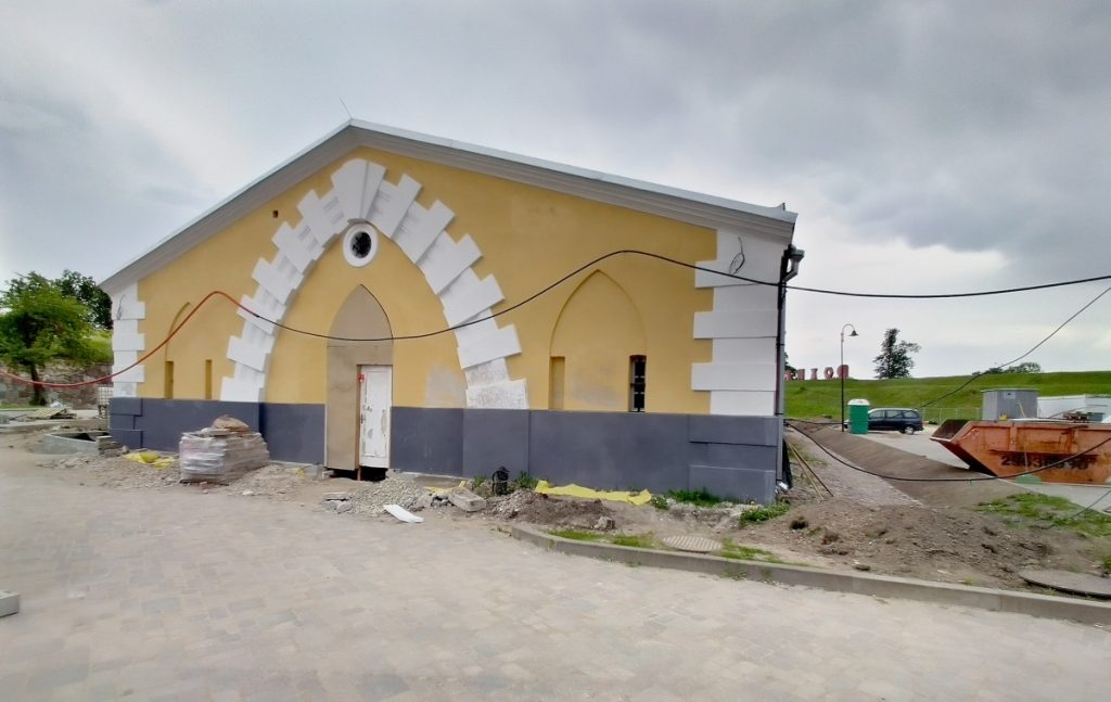 Реставрация порохового склада в Даугавпилсской крепости. 8 июня 2021 года. Фото: Елена Иванцова