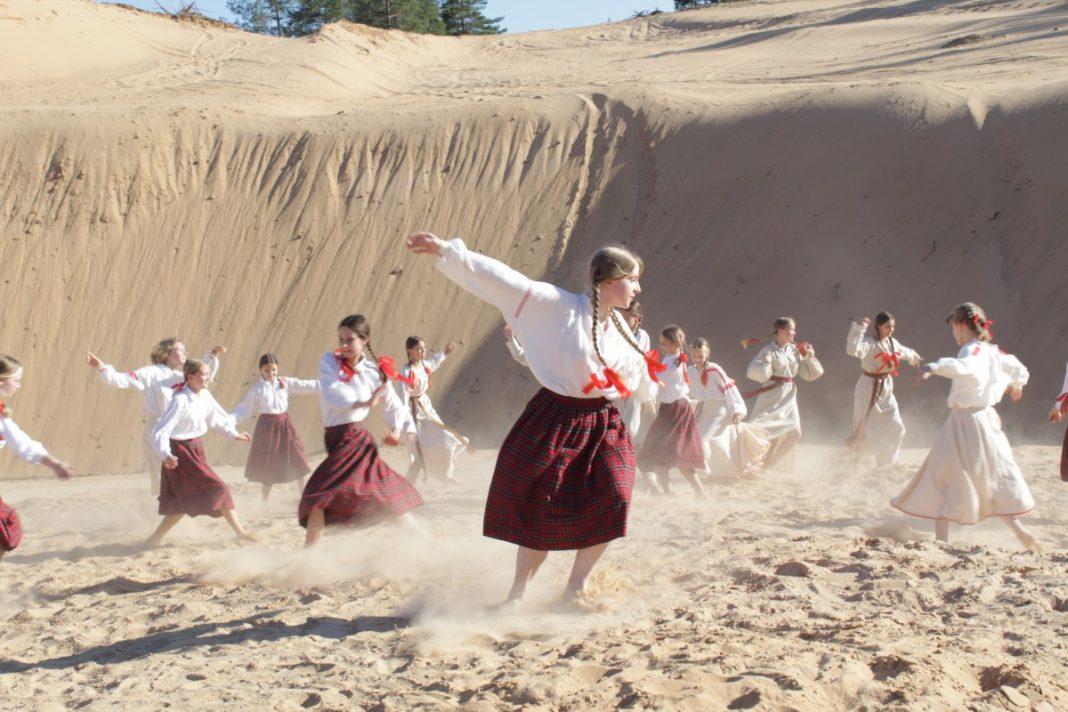 Практическая работа учеников «Saules skola» на праздник Лиго