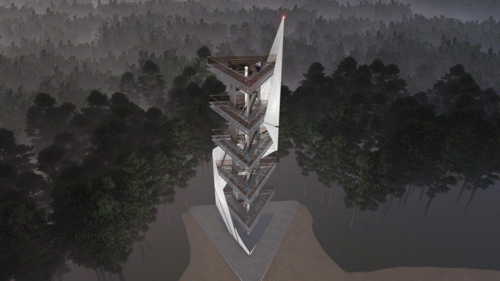 Смотровая вышка в Стропах. Визуализация. Автор: Виестурс Балодис