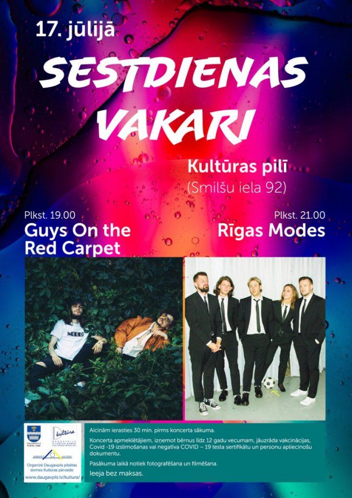 Концерт Guys On the Red Carpet и Rīgas Modes в Даугавпилсе