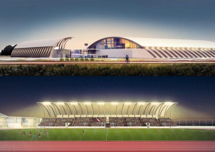 Эскизный проект легкоатлетического стадиона в Даугавпилсе. Фото: Arhis