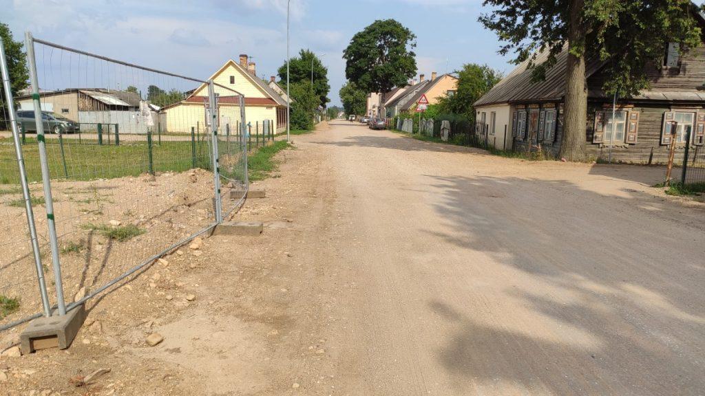 Прокладка водопровода на Юдовке. 13 июля 2021 года. Фото: Ирена Вилциня
