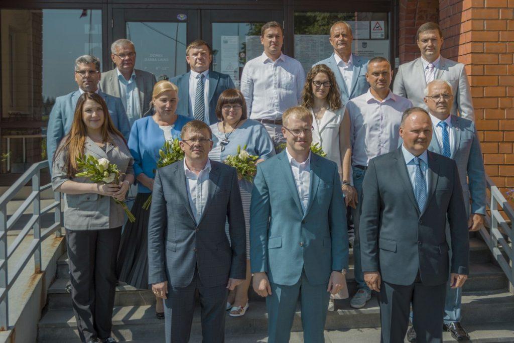Депутаты думы Даугавпилса нового созыва. 1 июля 2021 года. Фото: Евгений Ратков