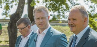 Валерий Кононов (второй вице-мэр), Андрей Элксниньш (мэр) и Алексей Васильев (первый вице-мэр). Фото: Евгений Ратков