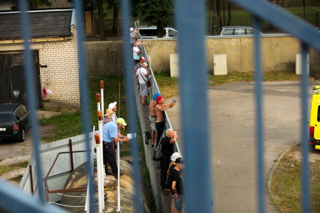 """Локомотив"" - ""MSC Wölfe Wittstock"". Даугавпилс, 16 июля 2021 года. Фото: Сергей Кузнецов"