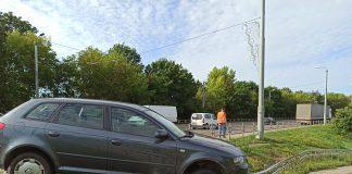 Авария в Даугавпилсе. 10 августа 2021 года. Фото: Михаил Рыжков