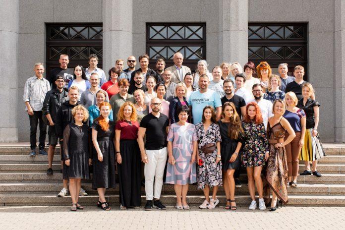 Коллектив Даугавпилсского театра. 3 августа 2021 года. Фото: Джейна Саулите