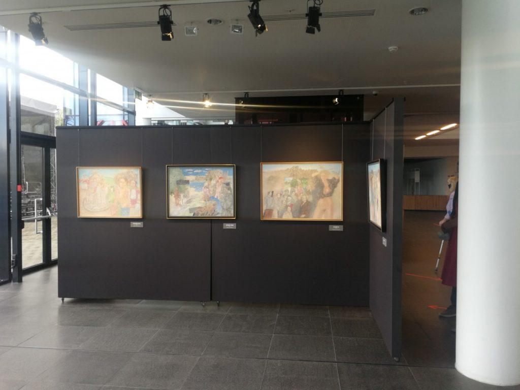 Выставка Ромуальда Гейкина в Латгальском посольстве Gors. Фото: Андрей Шаврей