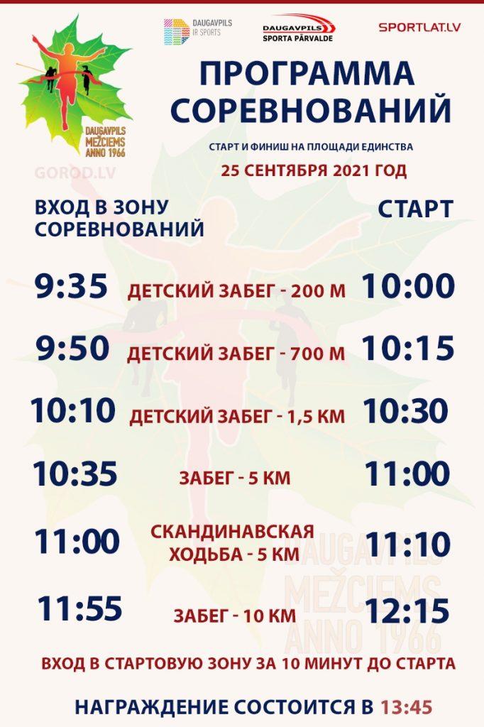 """Забег """"Межциемс - Даугавпилс"""" - 2021"""