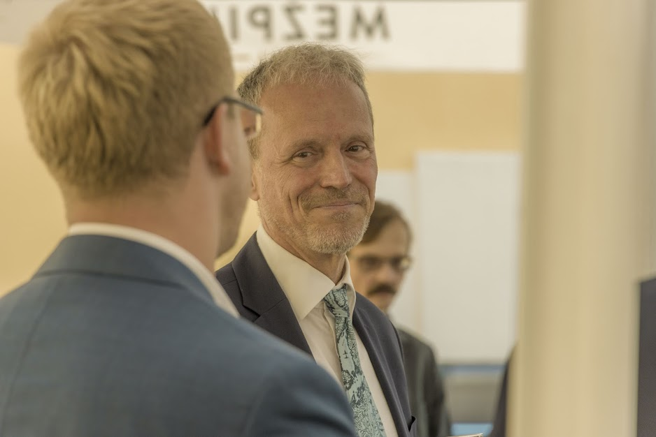 Директор Бюро Совета Северных стран в Латвии Стефан Эрикссон на открытии офиса в Даугавпилсе. 9 сентября 2021 года. Фото: Евгений Ратков