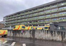 Больница им. Паула Страдиня в Риге. 15 октября 2021 года. Фото: Jauns.lv