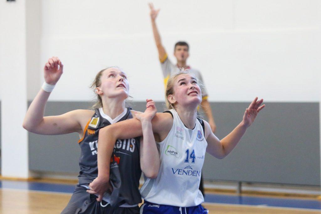 Балтийская баскетбольная лига в Даугавпилсе. «ДУ» - «Kibirkštis-MRU» (Вильнюс). 10 октября 2021 года. Фото: Сергей Кузнецов