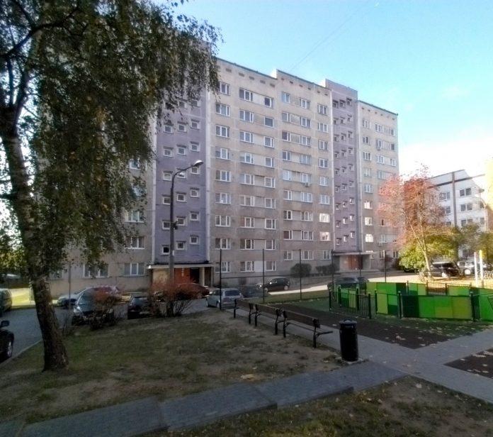 Дом на улице Тукума, 24 в Даугавпилсе, где произошла трагедия. Фото: Елена Иванцова