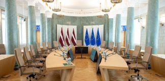 Зал заседаний Кабинета министров Латвии. Фото: mk.gov.lv